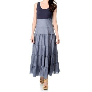 Chelsea & Theodore Blue Chambray Maxi Dress XL NWT